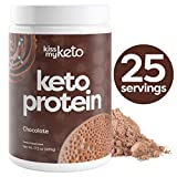 Kiss My Keto Protein Powder Chocolate - Keto Collagen Protein Powder + C8 MCT Oil (5g) | Low Carb Keto Shake (Chocolate Cocoa Flavor), Sugar Free | Mix with Coffee, 25 Servings