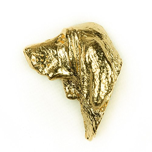 BLOODHOUND Made in U.K Artistic Style Dog Clutch Lapel Pin Collection 22ct Gold Plated ()