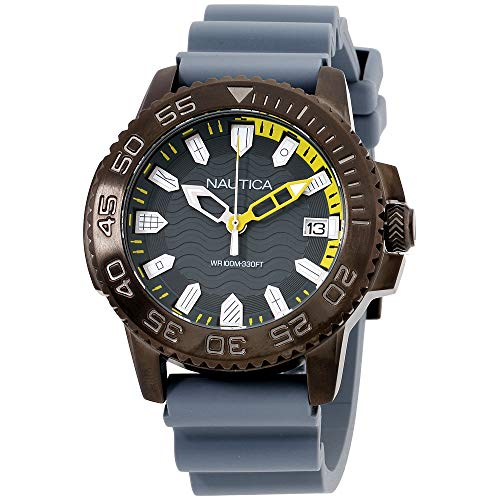 7f307a073137 Nautica Men s Keywest Stainless Steel Japanese-Quartz Watch with Silicone  Strap
