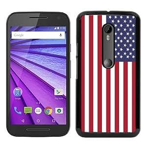 Custom Moto G 3rd Case,American Flag 9 Black Motorola Moto G 3rd Generation Phone Case
