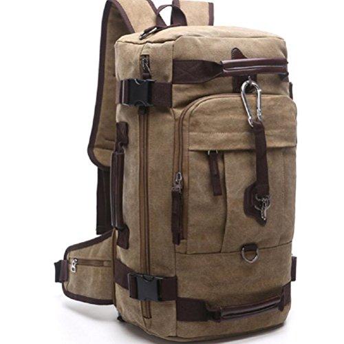 ZC&J 26L capacidad bandolera, bolsas bolsa de mensajero de usos múltiples recorrido de la lona, bolsos de mano para los hombres y las mujeres usan sólida cero simple y práctico,A,26L E