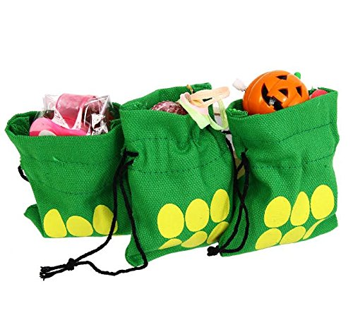 """Easter Egg"" Themed Gift Bags - 4 inch Durable Canvas Drawst"