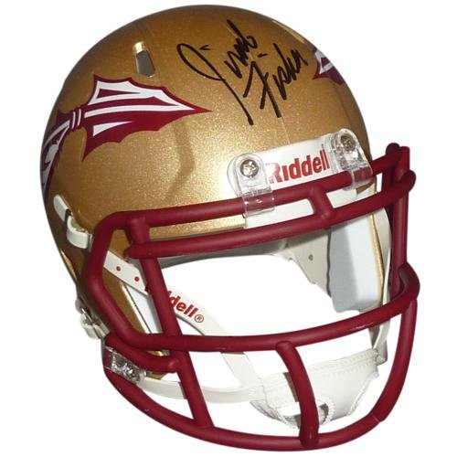 Jimbo Fisher Autographed Florida State FSU Seminoles (Speed) Mini Helmet