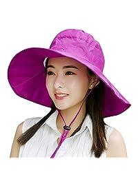 Summer Beach Hat Wide Brim for Women Foldable UPF 50+