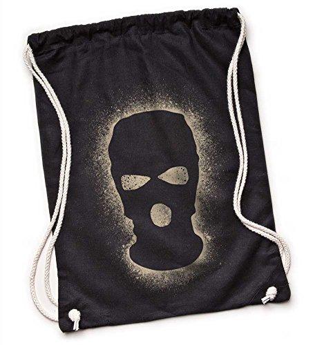 Kane Grey Kane Grey - Guerilla Gang - Bio Turnbeutel aus Segeltuch in Schwarz - Bolso mochila  de Lona para mujer negro negro One size