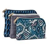 Sonia Kashuk153; Cosmetic Bag Purse Kit Modern Geo Mix - 3pc MULTI-COLORED
