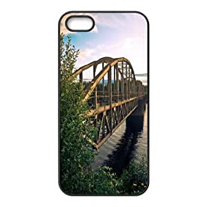 Yearinspace Bridge IPhone 5,5S Cases Beautiful Bridge Cheap For Boys, Iphone 5s Cases For Girls, {Black} Kimberly Kurzendoerfer