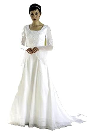 79b3e1fd265d Image Unavailable. Image not available for. Color: Eternity by Millennial  Sun #7603 White Size 14 LDS Modest Bridal Gown