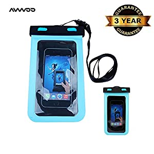 """Waterproof Case, Universal Dry Bag Pouch for Outdoor Activities for Devices up to 6.0"""" 2-pack"""