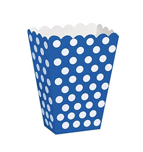 (Royal Blue Polka Dot Popcorn Treat Boxes,)