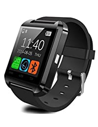 NOKKOO Bluetooth Android Smart Mobile Phone U8 Wrist Watch Smart Phone Watch Smart Barcelet for Android Phone, Huawei, Google, Samsung (Black)