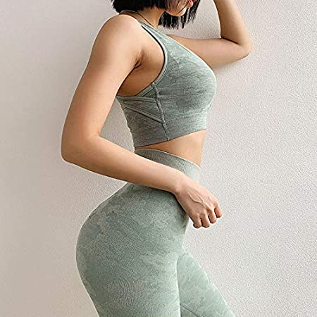 Ztoma Women Gym Yoga Clothes Set Women Camouflage Seamless Yoga Sports Bra With High Waist Leggings Pants For Fitness Amazon Co Uk Kitchen Home