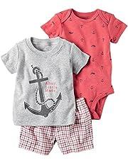 Carter's Baby Boys' Mommy's Wingman 3 Piece Bodysuit & Short Set