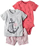 Carter's Baby Boys' Diaper Cover Sets 121h175, Heather, 6M