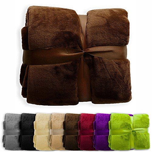 """casa pura Fleece Throw Blanket 