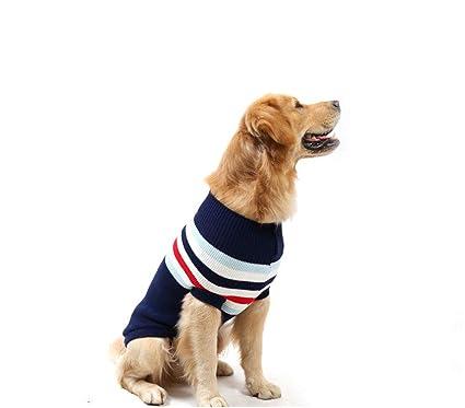 Elvoo Ropa para mascotas Ropa de otoño e invierno Sin mangas Suéter de perro mediano grande
