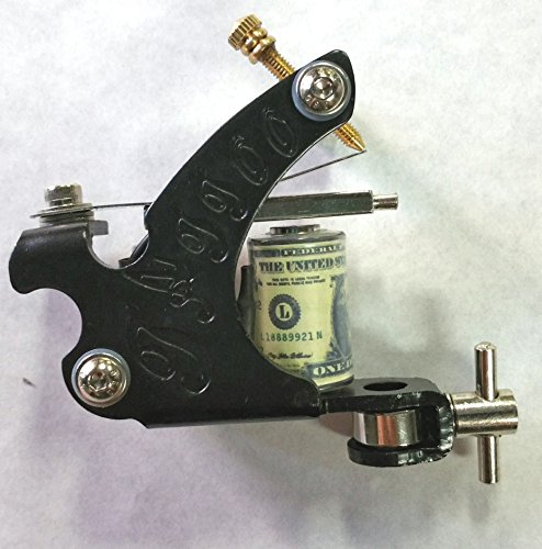 Black traditional 10 wrap Coil Tattoo Machine Gun