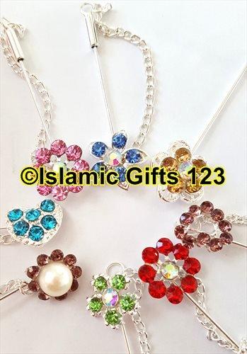 Hijab Pins-Scarf Pins-Stone pins-Hair covering Pins-WHOLESALE LOTS-Islamic Gifts 123 (10) (Delegate Pin)