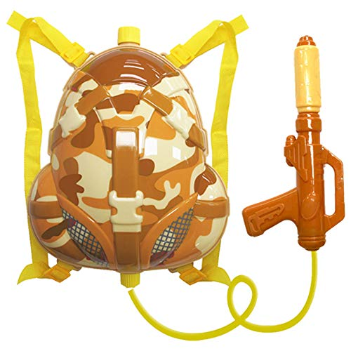 Nai-B Milistar Water Gun Backpack for Kids and Toddlers. Super Soaker Squirt Gun, Water Blaster and Shooter Toy [Desert]]()
