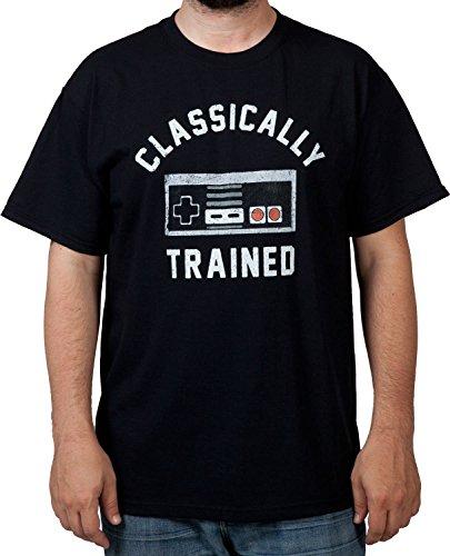 Men's Nintendo Classically Trained NES Controller Shirt Black Large (Overkill Nintendo Wii)