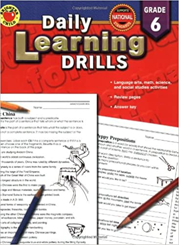 Daily Learning Drills Grade 6: Vincent Douglas, Brighter Child ...