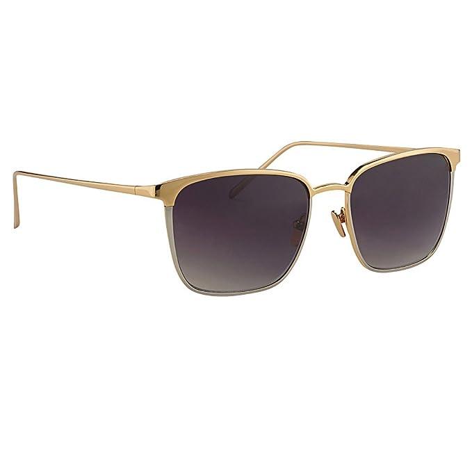 2d0e3f91d8 Linda Farrow Luxe LFL 346 Sunglasses C1 Yellow   White Gold   Grey Gradient  Lens  Linda Farrow  Amazon.ca  Clothing   Accessories