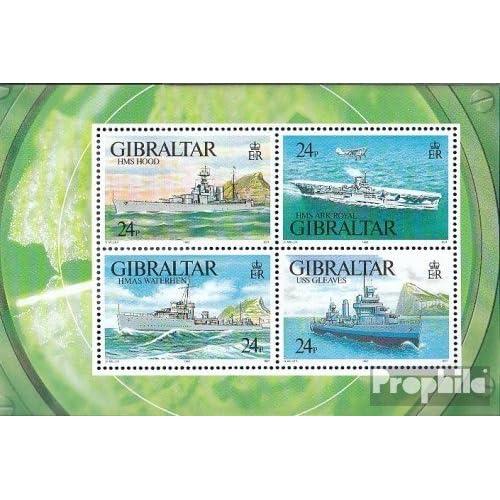 gibraltar Bloc 18 (complète.Edition.) 1993 les navires de guerre (Timbres pour les collectionneurs)