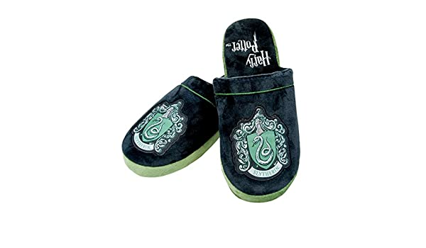 Amazon.com: Official Harry Potter Slytherin Unisex Slippers (UK 8-10): Home & Kitchen