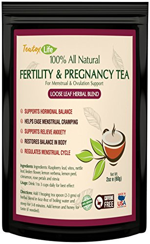 Red Raspberry Herb (Red Raspberry Leaf tea for Fertility Pregnancy with Vitex chasteberry, Loose Leaf Blend - 60 grams | Made in USA)
