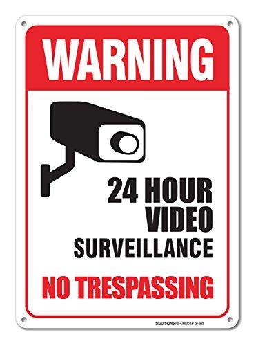 Sigo Signs Surveillance Trespassing Aluminum product image