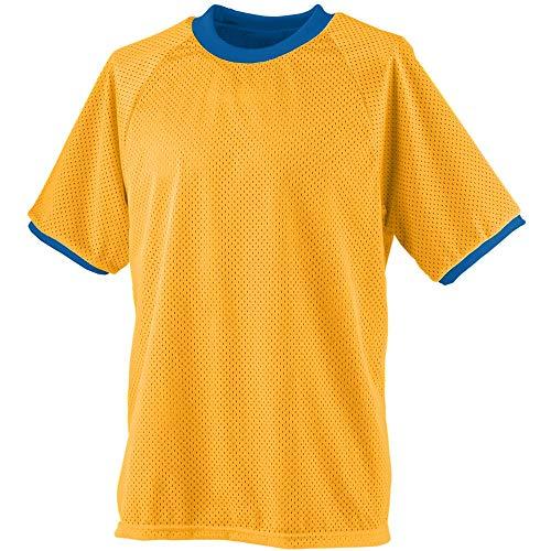 (Augusta Sportswear Men's Reversible Practice Jersey L Gold/Royal)