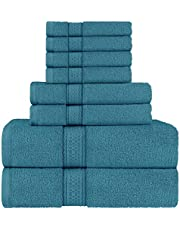Utopia Towels - Towels Set, 2 Bath Towels, 2 Hand Towels and 4 Washcloths, 600 GSM Ring Spun Cotton Highly Absorbent Towels for Bathroom, Shower Towel (8 Pieces)