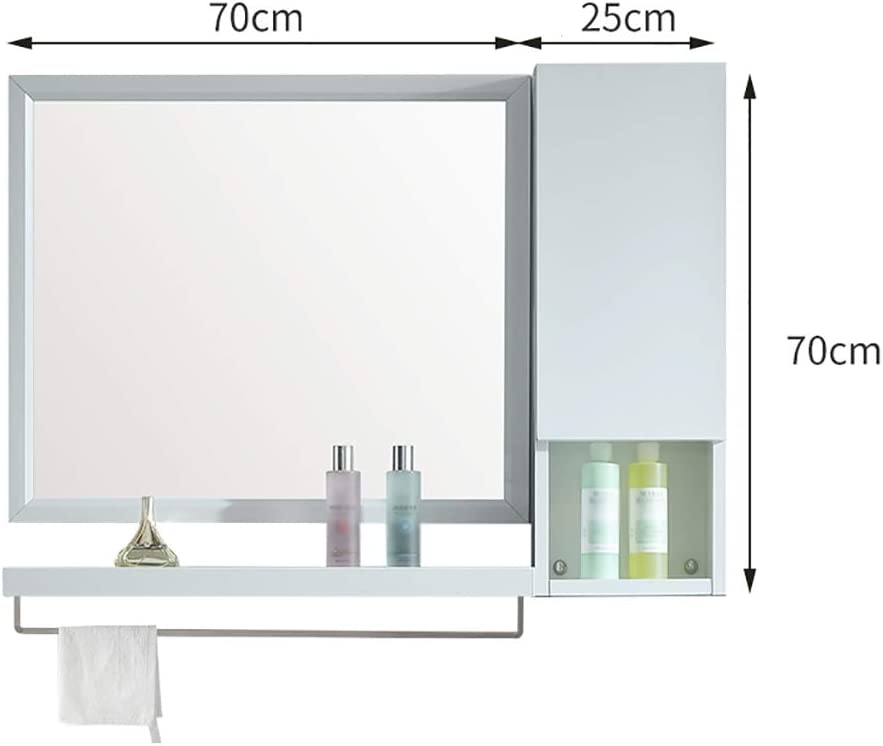 HSRG Mueble de baño de Montaje en Pared con Espejo y toallero ...