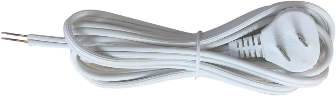 SPT-2 UL Listed Stripped Ends Ready for Wiring Royal Designs Lamp Cord with Molded Plug 12 ft Long Brown