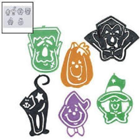 Halloween Stencil / Tracing Bookmarks ~ 24 Bookmarks Total ~ Plastic ~ (Halloween Bookmark)