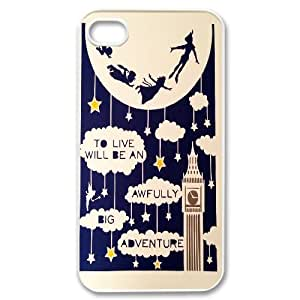 Peter Pan Cartoon - Never Grow Up Productive Back Phone Case For Iphone 4 4S case cover -Pattern-18