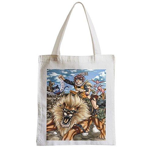 Große Tasche Sack Einkaufsbummel Strand Schüler fairy tail natsu dragneel Löwe