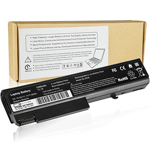 Futurebatt 6Cell 5200mAh Laptop Battery for HP ProBook 6440b 6445b 6450b 6535b 6540b 6545b 6550b 6555b Notebook (Elitebook 8440p Battery)
