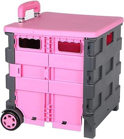 Carritos de la compra Plegable, el Anciano Compra un Carrito pequeño de la Caja de Compras de Viaje. Los niños Pueden Sentarse portátil del Carro.: Amazon.es: Hogar