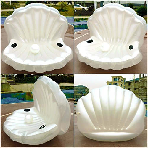 Buy Swimming Pool Giant Shell Rideable Inflatable Float