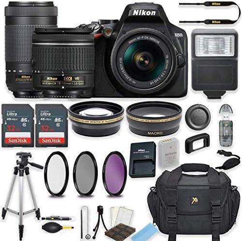 Nikon D3500 24.2 MP DSLR Digital camera (Black) w/AF-P DX NIKKOR 18-55mm f/3.5-5.6G VR Lens & AF-P DX NIKKOR 70-300mm f/4.5-6.3G ED Lens Bundle Contains 64GB Reminiscence + Filters + Deluxe Bag + Equipment