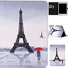 iPad air Case,Gift_Source [Slim Fit] Folio Leather Stand [Wallet] Shell Cover with Card Holder Compatible with Apple iPad air iPad 5 Case [Eiffel Tower] ,Sent Screen Protector + Stylus Pen