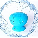EASYOWN Mini Bluetooth Speakers, Wireless Shower Bluetooth Speaker, Portable Waterproof Speakers, Handsfree Portable Speakerphone with Built-in Mic (Blue)