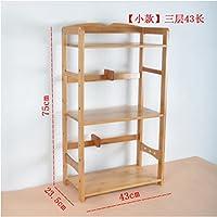 JX&BOOS Office bookcase,Desktop bookshelf storage rack solid wood simple creative desk-E 43x24x75cm(17x9x30)