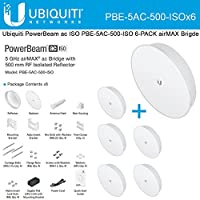 Ubiquiti PBE-5AC-500-ISO 6-PACK 5Ghz PowerBeam AC ISO 27dBi 500mm airMAX Bridge