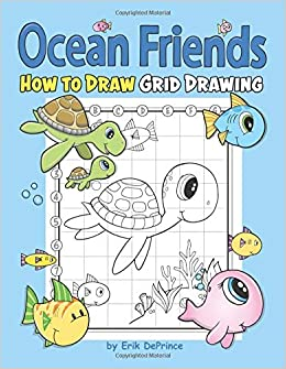 Buy Ocean Friends How to Draw Grid Drawing Book Online at