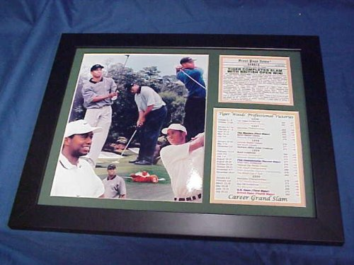 - Sports Memorabilia 11x14 Framed & Matted Tiger Woods Career Grand Slam - Golf Plaques and Collages
