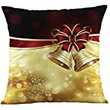 MIARHB Throw Pillow Covers Christmas Decorative Pillow Case Cushion Cover Zipper Square Christmas Reindeer Pillowcovers(D, 18'' x 18'')