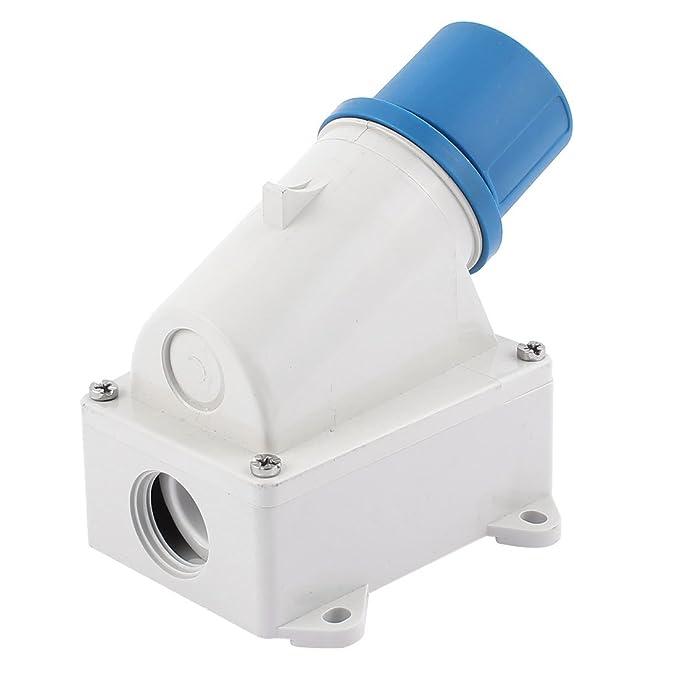 Amazon.com: eDealMax AC 200V-250V 16A IP44 2P + E 3-Terminal Macho Industrial o Zona de Plug: Electronics