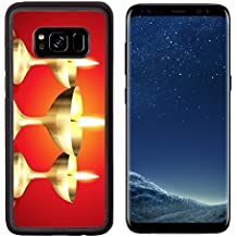 Liili Premium Samsung Galaxy S8 Aluminum Backplate Bumper Snap Case IMAGE ID: 15655882 beautiful golden diya on red background